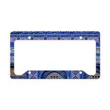 Mosaic Tilework License Plate Holder