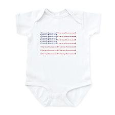 GH FLAG WHITE INFANT CREEPER