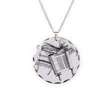 LiquidLibrary Necklace Circle Charm