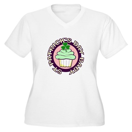St Pat's Baby Women's Plus Size V-Neck T-Shirt
