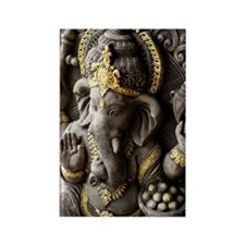 Indian God, Ganesh with gold deta Rectangle Magnet