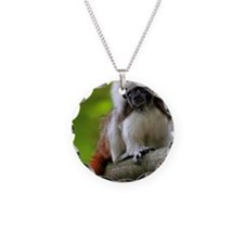 Cotton top tamarin in Singap Necklace