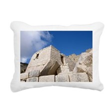 Sun Temple, Machu Picchu Rectangular Canvas Pillow
