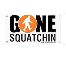 Gone Squatchin Black/Orange Logo Banner