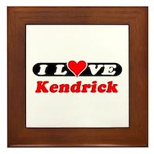 I Love Kendrick Framed Tile