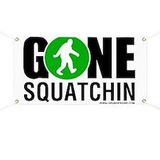 Gone Squatchin Black/Green Logo Banner