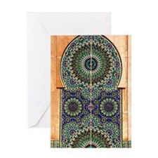 Mosaic Wall, Hassan II Mosque-Casabl Greeting Card
