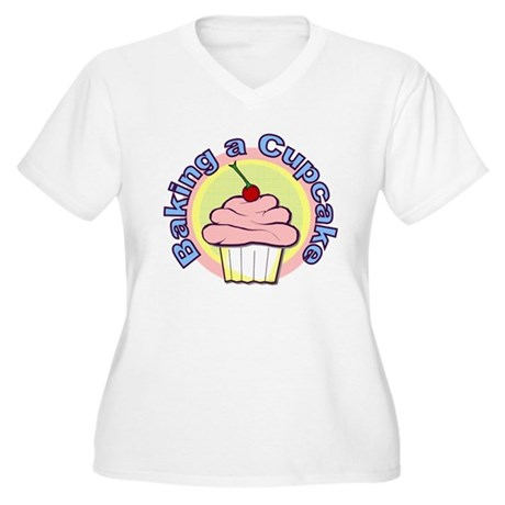 Baking a Cupcake Women's Plus Size V-Neck T-Shirt