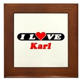 I Love Karl Framed Tile