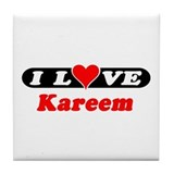 I Love Kareem Tile Coaster