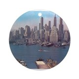 New York City Skyline 1948 Ornament (Round)