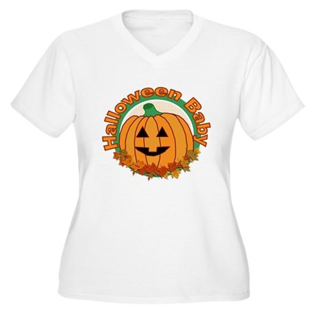Halloween Baby Women's Plus Size V-Neck T-Shirt