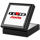 I Love Justin Keepsake Box