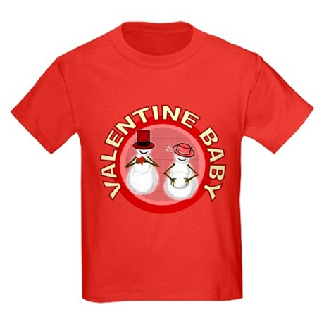 Valentine's Day Baby Kids Dark T-Shirt