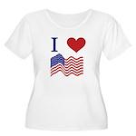 Patriotic Love Women's Plus Size Scoop Neck T-Shir