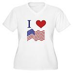 Patriotic Love Women's Plus Size V-Neck T-Shirt