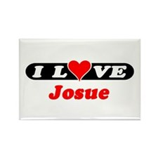 I Love Josue Rectangle Magnet