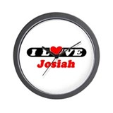 I Love Josiah Wall Clock