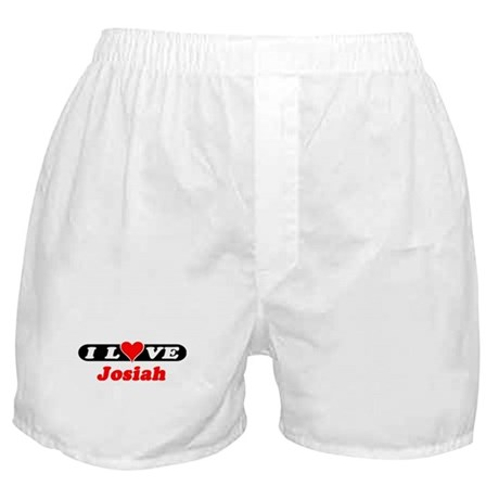 I Love Josiah Boxer Shorts