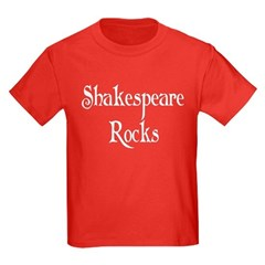 Shakespeare Rocks Kids Dark T-Shirt
