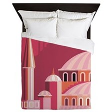 Blue Mosque, Istanbul, Turkey Queen Duvet
