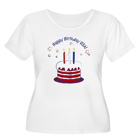 Happy Birthday USA Women's Plus Size Scoop Neck T-