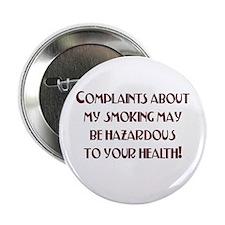 Smoking Humor Button