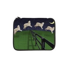 "Sheep jumping over fence 13"" Laptop Sleeve"