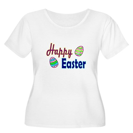 Happy Easter Eggs Women's Plus Size Scoop Neck Tee