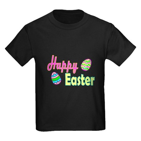 Happy Easter Eggs Kids Dark T-Shirt
