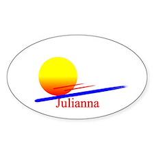 Julianna Oval Decal