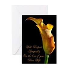 Sympathy on loss of a dear wife Greeting Cards