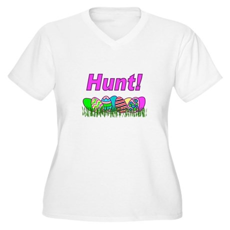 Hunt Easter Eggs Women's Plus Size V-Neck T-Shirt