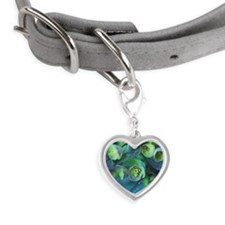 Euphorbia Small Heart Pet Tag