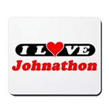 I Love Johnathon Mousepad
