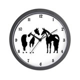 Tobiano and Overo Wall Clock