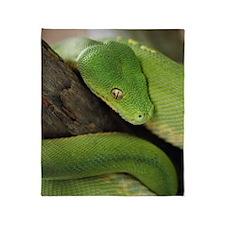 Green Tree Python, northern Australi Throw Blanket
