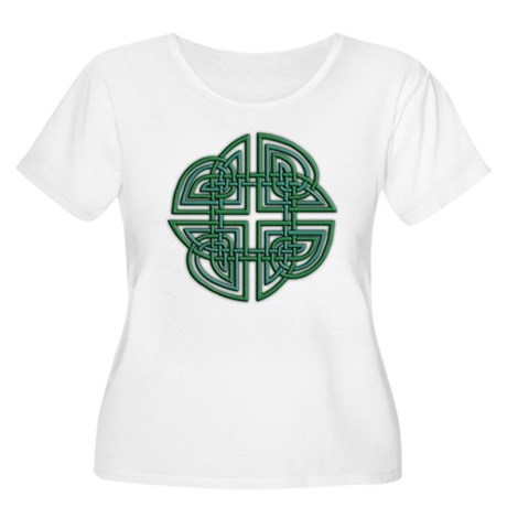 Celtic Four Leaf Clover Women's Plus Size Scoop Ne