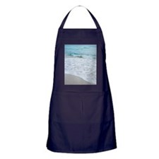 Incoming tide on beach in Miami, Flor Apron (dark)