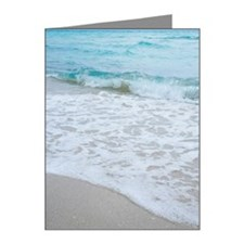 Incoming tide on beach in Mi Note Cards (Pk of 20)