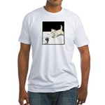 Cat Playing Fitted T-Shirt