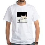 Cat Playing White T-Shirt