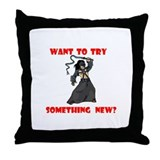 SOMETHING NEW? Throw Pillow