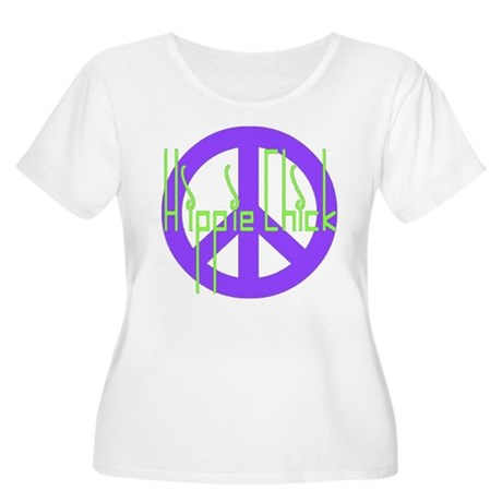 Hippie Chick Women's Plus Size Scoop Neck T-Shirt