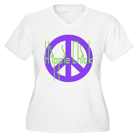 Hippie Chick Women's Plus Size V-Neck T-Shirt