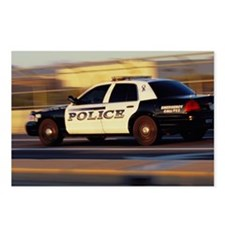 Police Car, Side View, Gr Postcards (Package of 8)