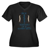 I'm a Meerkat Women's Plus Size V-Neck Dark T-Shir