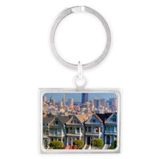 Painted Ladies Landscape Keychain
