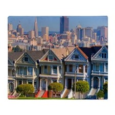 Painted Ladies Throw Blanket