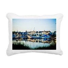 Nautical Village Marina  Rectangular Canvas Pillow